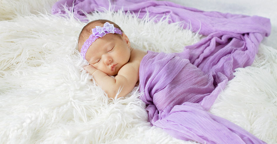 Baby in Purple